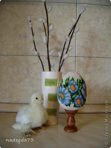 Верба  и яйцо из бисера