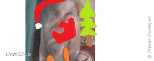 ВСТРЕЧАЙТЕ!!!это Хома,появился в этом году 19 февраля,попросила у мамы на день рождения он у меня 23 февраля (= это он вдалеке от елки балдеет на нем:тапочки,шапка и плюсом мешок с подарками! фото 1