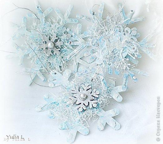 Скрапбукинг Новый год Кракелюр Снежное   фото 1