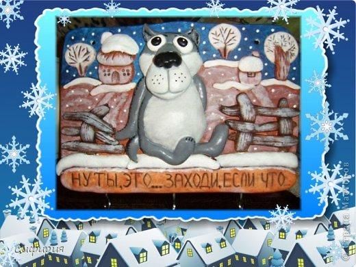 Картина панно рисунок Оберег Поделка изделие Новый год Лепка Роспись Новогодняя суета и хвастики 2 Гипс Клей Краска Материал природный Тесто соленое фото 2