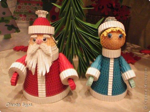 Как сделать новогодний дед мороз иИз спилов