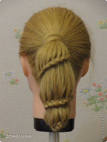 Мастер-класс Прическа Плетение МК причёски Фонарик Волосы фото 14