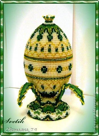 Яйца пасхальные из бисера мастер класс идеи #12