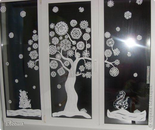 Снежинки на окно к новому году своими