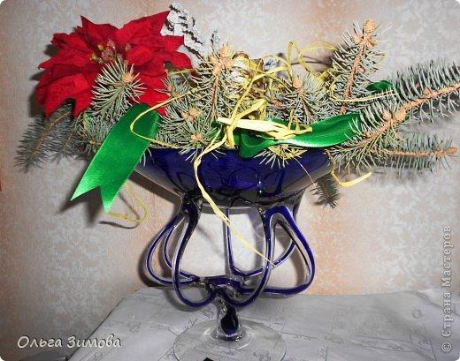 Готовлюсь к встрече Нового года. Вот такая композиция украсит  наш новогодний стол.   фото 2