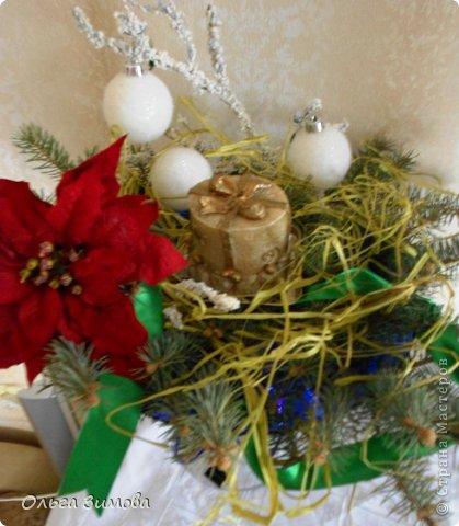 Готовлюсь к встрече Нового года. Вот такая композиция украсит  наш новогодний стол.   фото 5