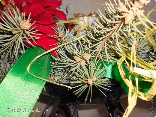 Готовлюсь к встрече Нового года. Вот такая композиция украсит  наш новогодний стол.   фото 4
