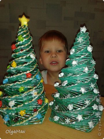 Вот такие новогодние елочки я сделала для детского сада. фото 1