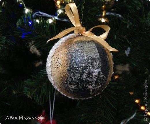 В этом году, к новому году сделала несколько таких винтажных шариков. Они придают ёлочке особый шарм старины. Сегодня поделюсь с вами, как я его делала. фото 14