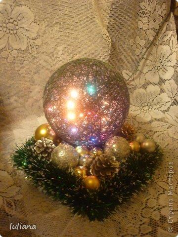 Мои первые светильнички к Новому году фото 1