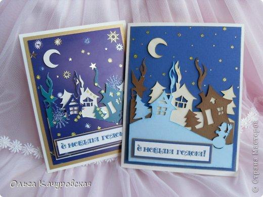 Новогодние объемные открытки