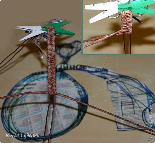 Интерьер Поделка изделие День матери Моделирование конструирование Плетение Кашпо «Сердечный велосипед» Авторская работа Бумажные полосы Клей Кофе Полиэтилен Проволока Скотч Сутаж тесьма шнур Трубочки картонные фото 37