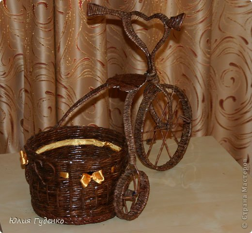Рада всех приветствовать на моей страничке! До сей поры была равнодушна к плетёнкам, коих на сайте огромное количество, велосипедов тоже не счесть. фото 54