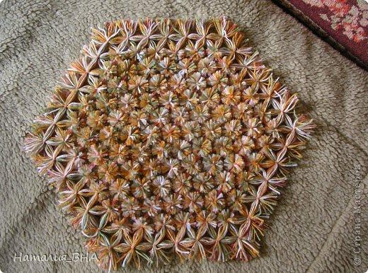 Плетение салфетки нитками
