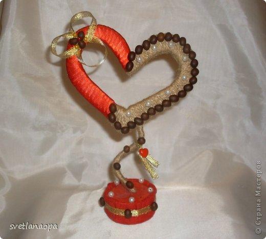 Сердечко подвешенное на кольце. фото 3