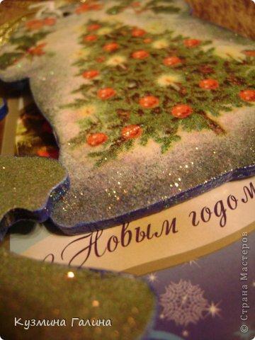 Для своих коллег к Новому году приготовила и подарила небольшие подарочки.Деревянные заготовки,перегоревшие лампочки,салфетки-всё пошло в дело. фото 8
