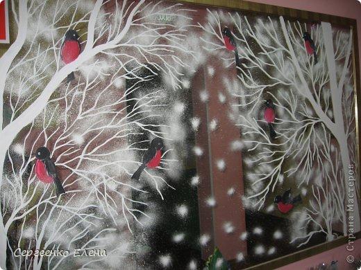 Рисунки на окне на новый год гуашь