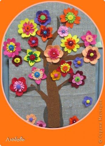 Здравствуйте всем мастерам Страны Мастеров. Хочется показать вам нашу осеннюю коллективную работу. У всех осенью листопад, а у нас осеннее цветение...