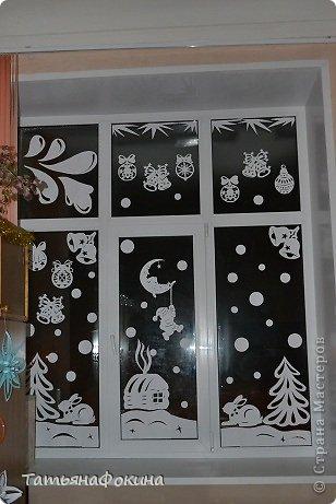 Украсим окна новый год