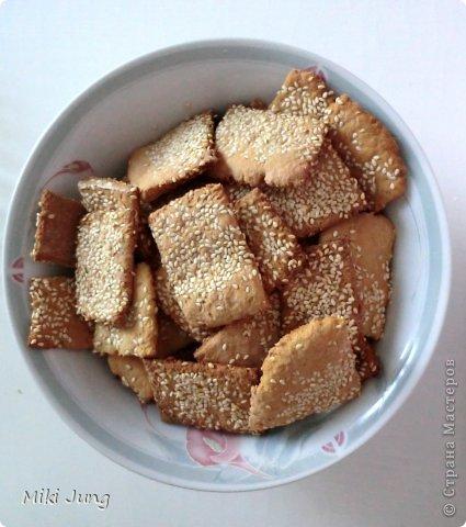 Печенье с кунжутом и вишней фото 3