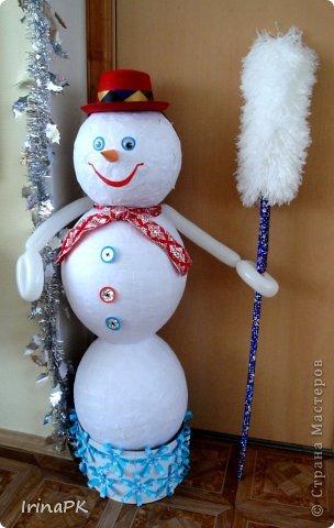 Поделка снеговика объемного