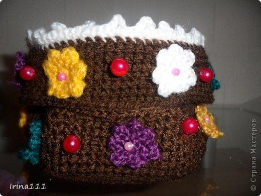 Поделка изделие День рождения Вязание крючком шкатулочка-тортик для мамы Бисер Бусинки Пряжа.