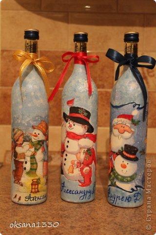 Декор предметов Новый год Декупаж Три А Бумага