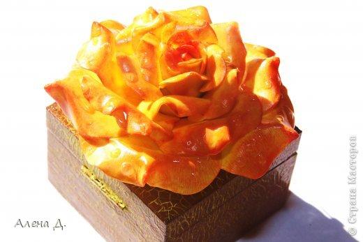 Поделка изделие День рождения Лепка Шкатулка розацея Фарфор холодный фото 6.