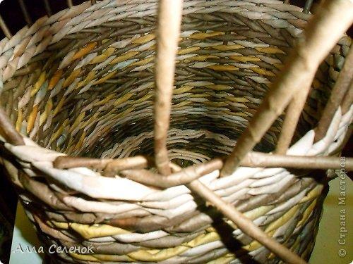 Мастер-класс Поделка изделие Плетение МК загибки Бумага газетная Трубочки бумажные фото 3