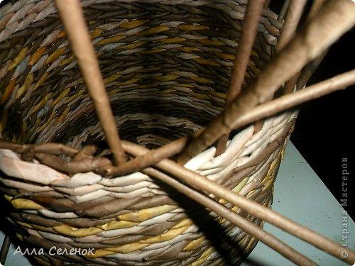 Мастер-класс Поделка изделие Плетение МК загибки Бумага газетная Трубочки бумажные фото 5