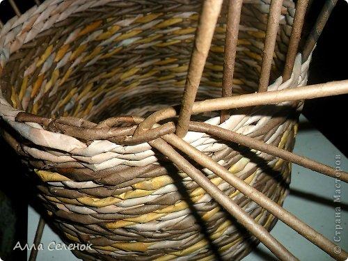 Мастер-класс Поделка изделие Плетение МК загибки Бумага газетная Трубочки бумажные фото 6