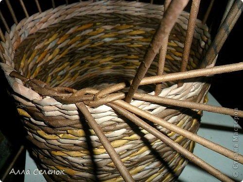 Мастер-класс Поделка изделие Плетение МК загибки Бумага газетная Трубочки бумажные фото 8