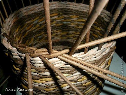 Мастер-класс Поделка изделие Плетение МК загибки Бумага газетная Трубочки бумажные фото 9