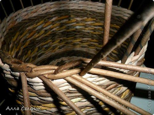 Мастер-класс Поделка изделие Плетение МК загибки Бумага газетная Трубочки бумажные фото 10