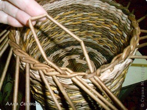Мастер-класс Поделка изделие Плетение МК загибки Бумага газетная Трубочки бумажные фото 14