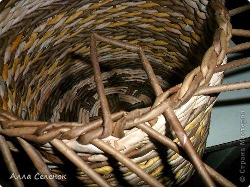 Мастер-класс Поделка изделие Плетение МК загибки Бумага газетная Трубочки бумажные фото 17