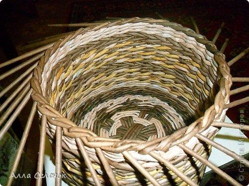 Мастер-класс Поделка изделие Плетение МК загибки Бумага газетная Трубочки бумажные фото 18