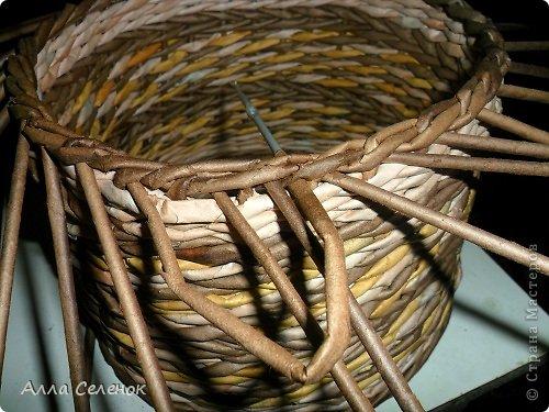 Мастер-класс Поделка изделие Плетение МК загибки Бумага газетная Трубочки бумажные фото 19