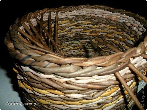 Мастер-класс Поделка изделие Плетение МК загибки Бумага газетная Трубочки бумажные фото 22