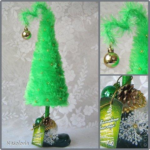 Поделки елки с нитками