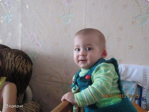 """Комбинезон связала для своего племянника. Вязала крючком, """"на глаз"""", без примерки. фото 3"""