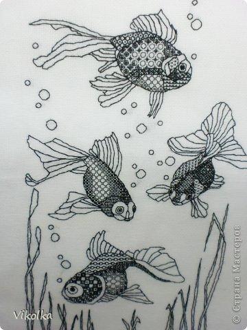 Рыбки-блэкворк | Страна Мастеров: http://stranamasterov.ru/node/492499