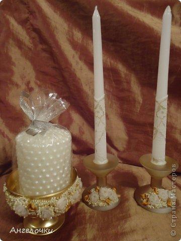 Декор предметов Свадьба Аппликация Мои свадебные мелочи Бисер Бутылки стеклянные Пластика Стекло Ткань фото 7.