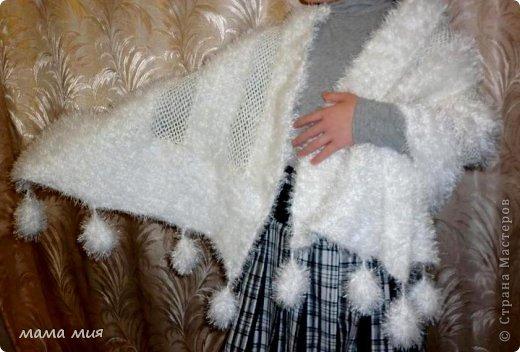 Гардероб День рождения Новый год Вязание крючком палантин из травки Нитки фото 3