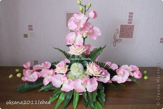 Всем привет, мои дорогие!!! Поздравляю с Наступившим Новым годом и Рождеством!!! Праздничные хлопоты позади и руки сами потянулись творить и вытворять!!!! Сложились у меня две композиции с орхидеями, буквально на одном дыхании..... фото 1