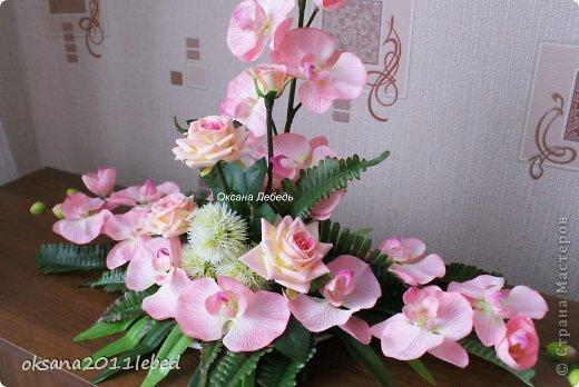 Всем привет, мои дорогие!!! Поздравляю с Наступившим Новым годом и Рождеством!!! Праздничные хлопоты позади и руки сами потянулись творить и вытворять!!!! Сложились у меня две композиции с орхидеями, буквально на одном дыхании..... фото 2