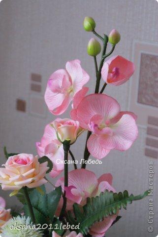 Всем привет, мои дорогие!!! Поздравляю с Наступившим Новым годом и Рождеством!!! Праздничные хлопоты позади и руки сами потянулись творить и вытворять!!!! Сложились у меня две композиции с орхидеями, буквально на одном дыхании..... фото 3