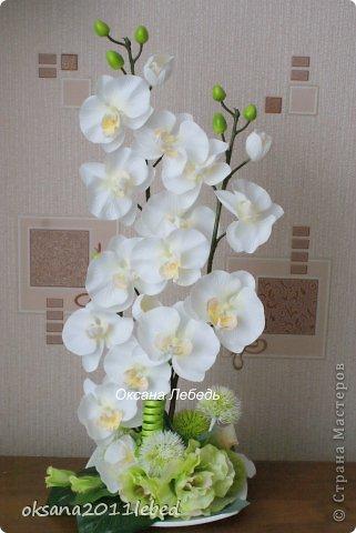 Всем привет, мои дорогие!!! Поздравляю с Наступившим Новым годом и Рождеством!!! Праздничные хлопоты позади и руки сами потянулись творить и вытворять!!!! Сложились у меня две композиции с орхидеями, буквально на одном дыхании..... фото 4