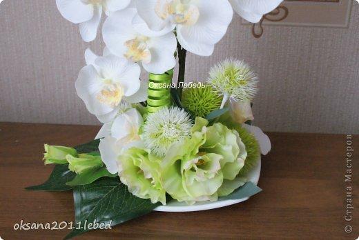 Всем привет, мои дорогие!!! Поздравляю с Наступившим Новым годом и Рождеством!!! Праздничные хлопоты позади и руки сами потянулись творить и вытворять!!!! Сложились у меня две композиции с орхидеями, буквально на одном дыхании..... фото 6