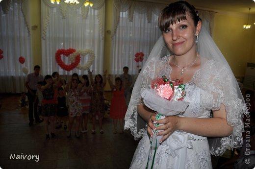 Дубль-букет для невесты. Спасибо за МК  Эльвира С.      http://stranamasterov.ru/node/359474?c=favorite_1388 фото 7